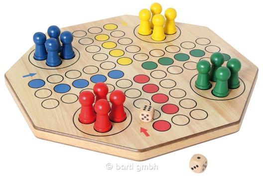 4-6 Spieler XL-Ludo doppelseitig