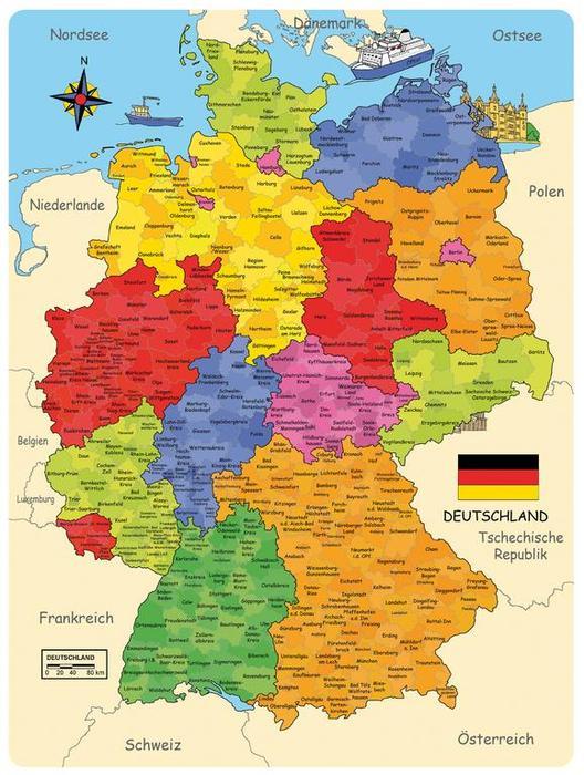 Deutschland Puzzle Die Deutschlandkarte Als Holzpuzzle Von