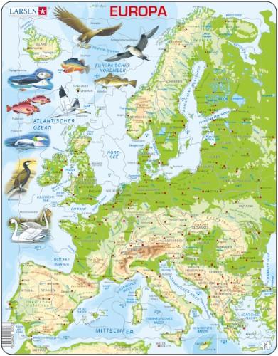 Larsen Lernpuzzle Larsen Puzzle Europa physisch