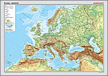Westermann Posterkarte Europa physisch 100x70cm