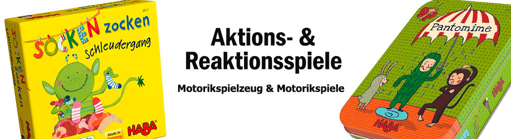 Aktions- & Reaktionsspiele Banner