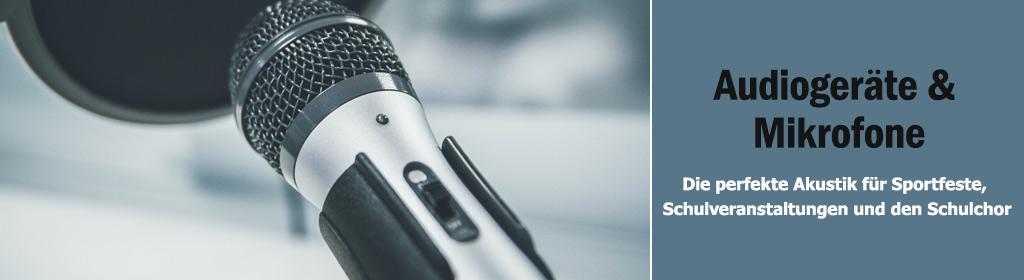 Audiogeräte & Mikrofone Banner