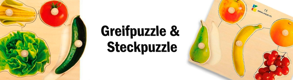 Greifpuzzle & Steckpuzzle Banner