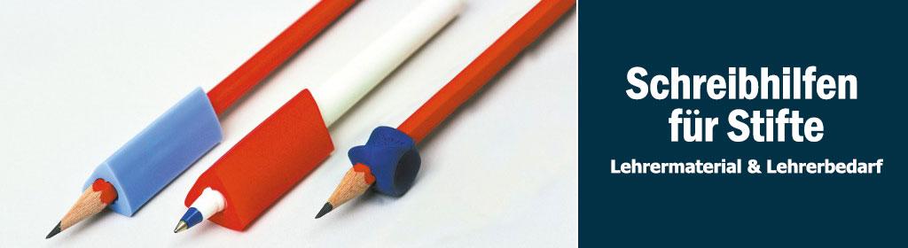 Schreibhilfen für Stifte Banner