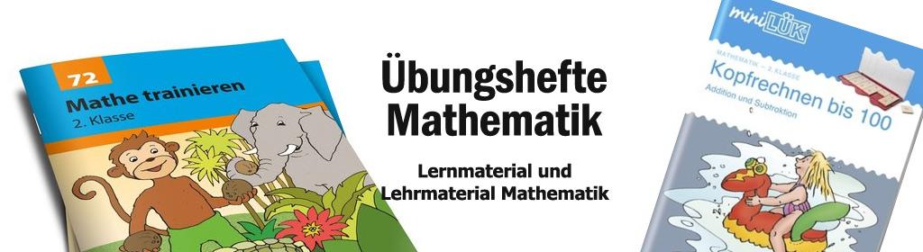 Übungshefte Mathematik Banner