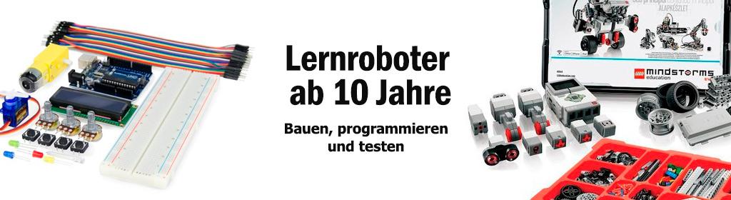 Lernroboter ab 10 Jahre Banner