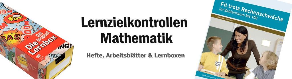 Lernzielkontrollen Mathematik Banner