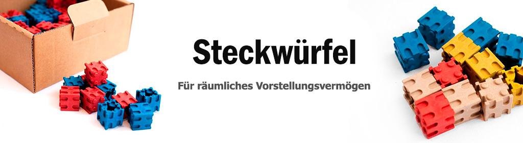 Steckwürfel Banner