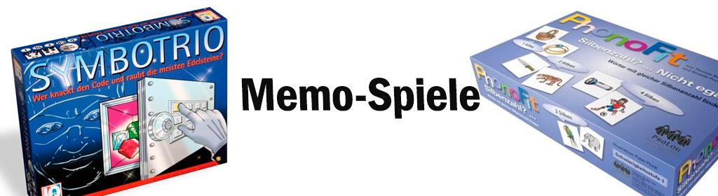 Memo-Spiele Banner