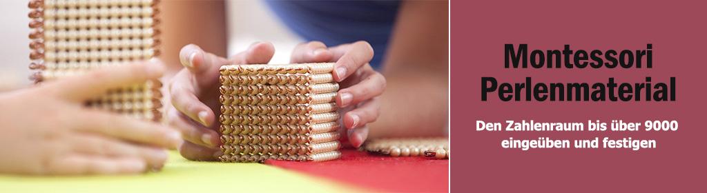 Montessori Perlenmaterial Banner