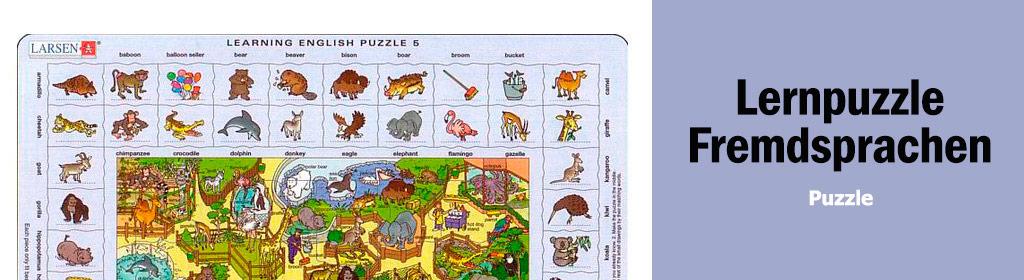 Lernpuzzle Fremdsprachen Banner