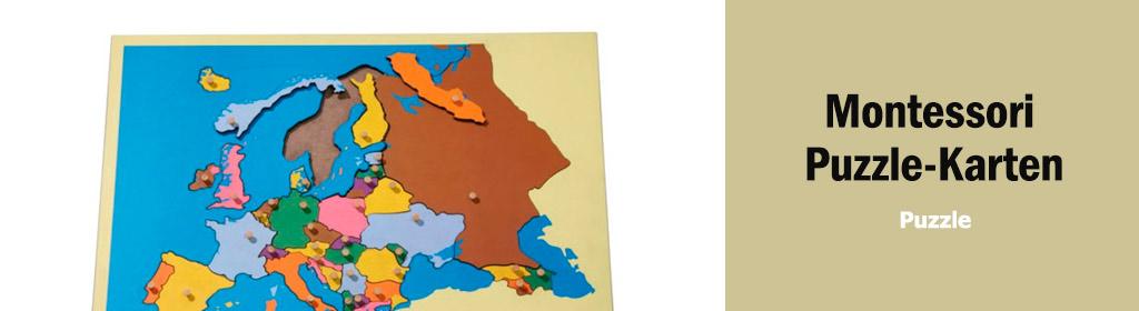 Montessori Puzzle-Karten Banner