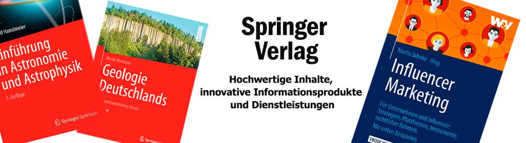 Springer Verlag Banner