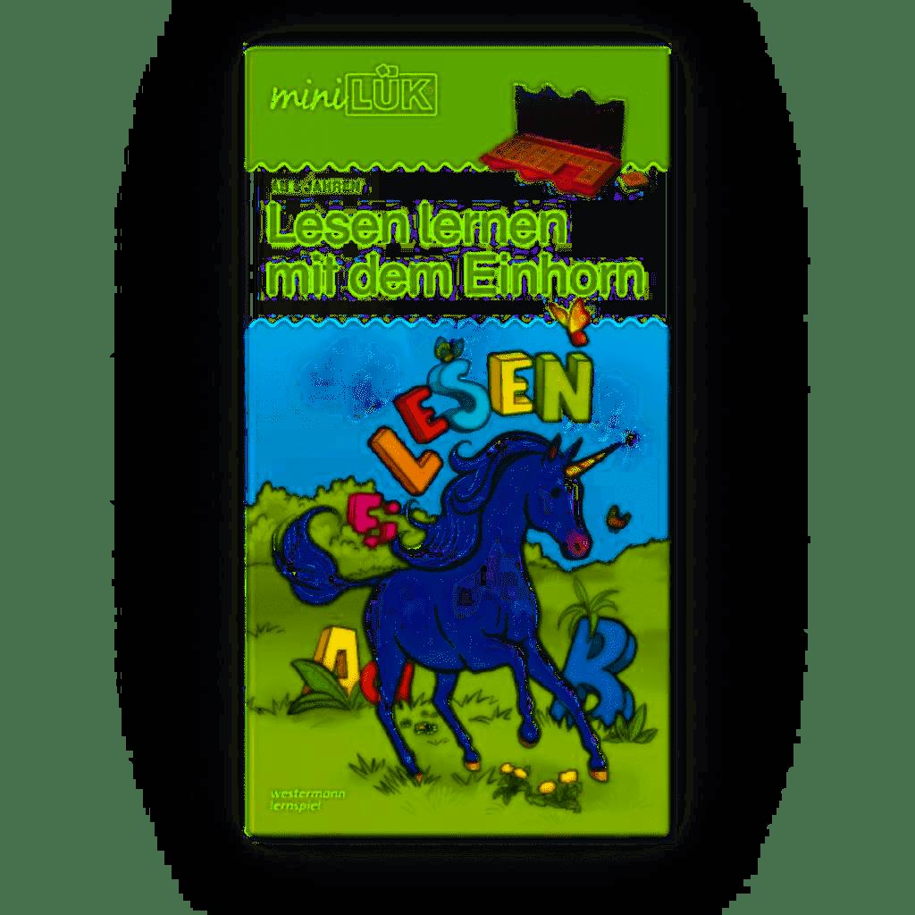 miniLÜK-Set Zählen und lesen lernen mit dem Einhorn, 5-6 Jahre
