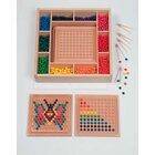 Mini-Kugelspiel-Set groß, 1250 Holzkugeln, 5 Legetablets und Zubehör, ab 3 Jahre