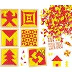 Magisches Mosaik rot-gelb, Einzelpackung