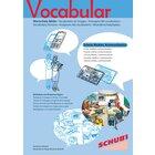 Vocabular Wortschatz-Bilder - Schule, Medien, Kommunikation, 3-99 Jahre