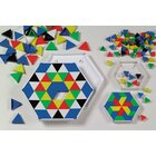 Prismo Dreiecke mit Legerahmen 10er-Set durchgefärbt (Großpackung) inkl. Vorlagen