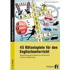 45 Rätselspiele für den Englischunterricht, Buch, 5. bis 10. Klasse