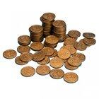 Geld Euro-Münzen Spielgeld 10 Cent