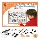 Die Notentafel, magnetisches Material für den Musikunterricht