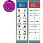 Flocards Set D4 Zahlwörter, Verben, Adjektive, Präpositionen,  ab 6 Jahre
