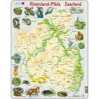 Larsen Lernpuzzle Puzzle Bundesland Rheinland-Pfalz Saarland (physisch mit Tieren)