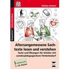 Altersangemessene Sachtexte lesen und verstehen, Buch inkl. CD, 7.-10. Klasse