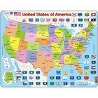 Larsen Lernpuzzle Vereinigten Staaten von Amerika politisch (in Englisch)