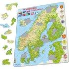 Larsen Lernpuzzle Die nordischen und baltischen Länder, ab 7 Jahren