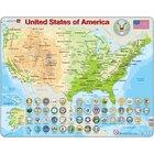 Larsen Lernpuzzle Vereinigten Staaten von Amerika (USA) physisch (in Englisch)