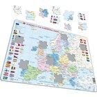 Larsen Lernpuzzle Europa und die Europäische Union englisch, ab 7 Jahre