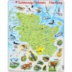 Larsen Lernpuzzle Puzzle Bundesland Hamburg Schleswig Holstein (physisch mit Tieren)