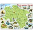 Larsen Lernpuzzle Puzzle Bundesland Bremen Niedersachsen (physisch mit Tieren)