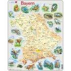 Larsen Lernpuzzle Puzzle Bundesland Bayern (physisch mit Tieren)