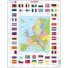 Larsen Lernpuzzle Europa und Flaggen