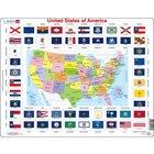 Larsen Lernpuzzle Vereinigte Staaten von Amerika, ab 6 Jahre