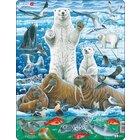 Larsen Lernpuzzle Nordpol: Eisbär und Walross