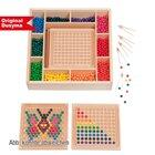 Mini-Kugelspiel-Set klein, 500 Holzkugeln, 2 Legeablets und Zubehör, ab 3 Jahre
