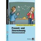Prozent- und Zinsrechnung - Inklusionsmaterial, Kopiervorlagen inkl. CD, 6.-9. Klasse