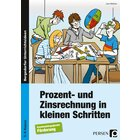 Prozent- und Zinsrechnung in kleinen Schritten, Buch, 7.-9. Klasse