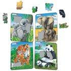 Larsen Lernpuzzle Koala, Elephant, Tiger, Panda