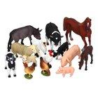 Bauernhof-Tiere-Set, 14 Teile, 3-10 Jahre