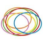 Gymnastik-Reifen Regenbogen-Set, 6 Stück, Durchmesser 60 cm