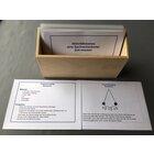 Aktivitätskarten zum Sachrechnen: Zeitmessung, laminierte Kartei im Holzkasten