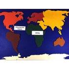 Landkarte aus Filz