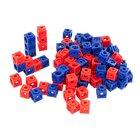 DICK-System Steckwürfel, 100 Stück rot und blau, 17 mm