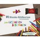 Kamishibai 14 blanko Bildkarten zum Gestalten & Bemalen