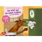 Kamishibai Bildkartenset - Der Wolf und die sieben Geißlein, 1 bis 3 Jahre