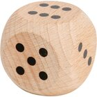 Augenwürfel aus Holz 38 mm